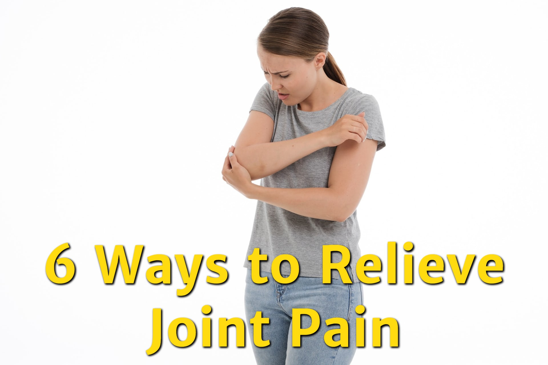 A young woman suffering from painful joints who needs joint pain relief