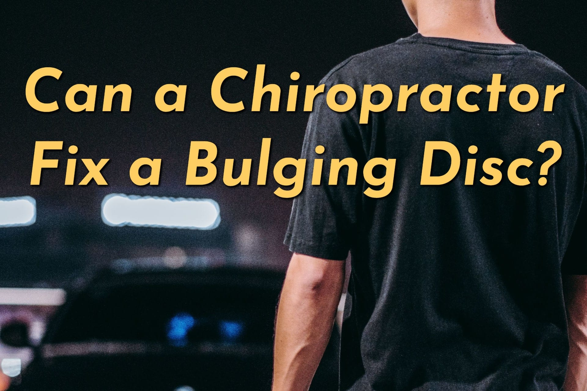 Can a Chiropractor Fix a Bulging Disc?
